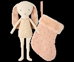 Maileg / Bunny Angel in stocking / Powder