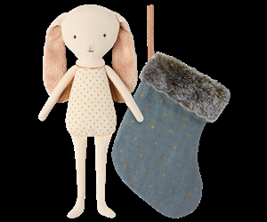 Maileg / Bunny Angel in stocking / Blue