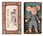 Maileg little brother mouse in matchbox - Tinashjem