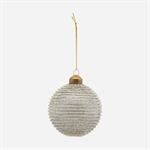 206860101 Ornament horizontal glitter dark grey fra House Doctor - Tinashjem