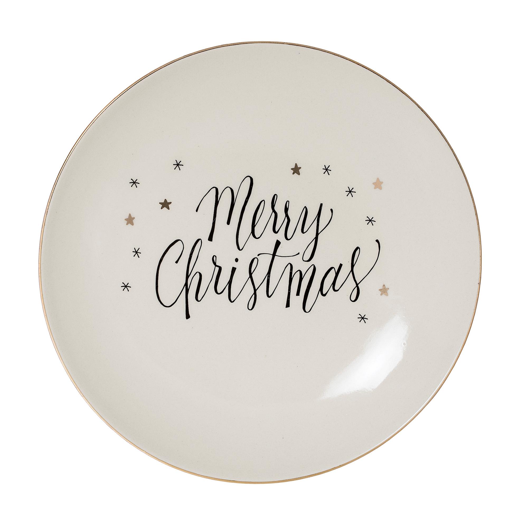 Topp Noel tallerken Merry Christmas Bloomingville Tinashjem ED-42