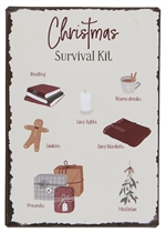 70081-00 Metalskilt Christmas Survival Kit fra Ib Larusen - Tinashjem