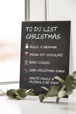 Metalskilt / To Do List Christmas / Ib Laursen