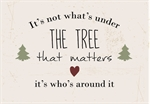 Metalskilt / It´s not what´s under the tree that matters / Ib Laursen