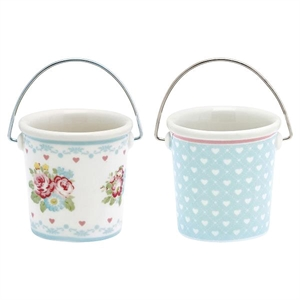 GreenGate / Abelone white / Small buckets 2 stk.