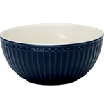 GreenGate / Alice Dark Blue / Cereal bowl 14 cm