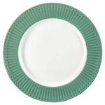 Alice Dusty Green dinner plate fra GreenGate - Tinashjem
