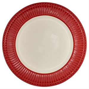 GreenGate / Alice Red / Dinner Plate