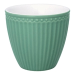 Latte cup Alice Dusty Green fra GreenGate - Tinashjem