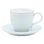 GreenGate / Alice Pale Blue / cup with saucer