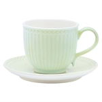 GreenGate / Alice Pale Green / cup with saucer