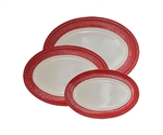 GreenGate / Alice Red /Serving plate 3 stk.