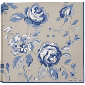 GreenGate / Amanda dark blue / servietter large