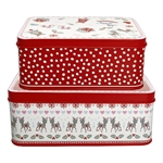 GreenGate / Bambi White / Rectangular box 2 stk.
