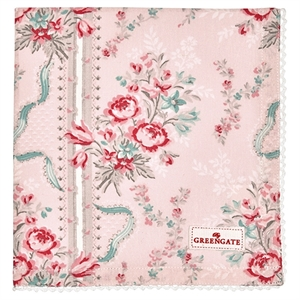 GreenGate / Betty Pale Pink / Napkin with lace