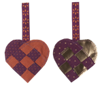 Maileg / Braided Heart / Purple 2 assorterede
