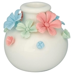 Candle holder Daisy round medium multicolour fra GreenGate - Tinashjem