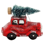 GreenGate / Car Glass Red w/tree / hanging