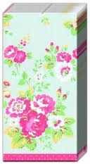 Cath Kidston / Lomme Servietter / Spray Flowers Grey