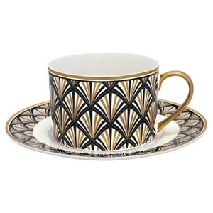 Celine Black / cup with saucer