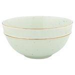 GreenGate / Cereal Bowl / Pale Green with gold rim