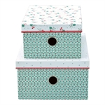 Christmas car storrage box set of 2 fra GreenGate - Tinashjem
