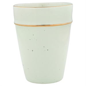 GreenGate / Cup / Pale Green with gold rim
