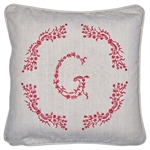 GreenGate / Cushion G Red / with embroidery