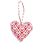 GreenGate / Decoration Heart Reindeer / Red