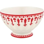 GreenGate / Fleur Red / French bowl 10 cm medium