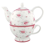GreenGate / Flora white  / Tea for one