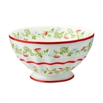 Gloria White French bowl XL 13,5 cm fra GreenGate - Tinashjem