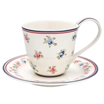 GreenGate / Hailey White / cup with saucer