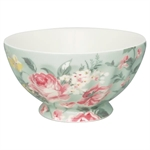 Josephine pale mint french bowl XL fra GreenGate - Tinashjem