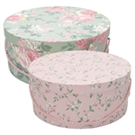 GreenGate / Josephine pale mint / Storage box set of 2 XL