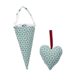 Juno green cornet set of 2 fra GreenGate - Tinashjem