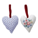Juno heart Dusty Blue set of 2 fra GreenGate - Tinashjem