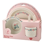 Ruby Petit White kids dinner set fra GreenGate - Tinashjem