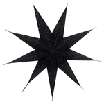 GreenGate / Star Lampshade / black with glitter medium
