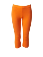 Orange leggings kort model fra du Milde - Tinashjem