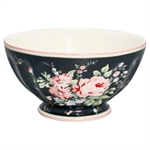 GreenGate / Marley dark grey / French bowl  XL 13,5 cm