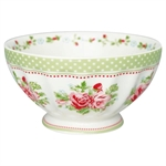 Mary White French Bowl XL fra GreenGate - Tinashjem
