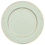 GreenGate / Plate / Pale Green with gold rim