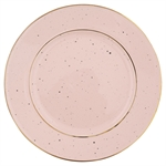 GreenGate / Plate / Pale Pink with gold rim
