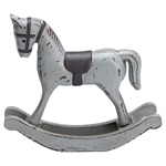 GreenGate / Rocking Horse Decoration / Warm Grey with black