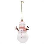 GreenGate / Snowmann Pale Pink / Glass hanging