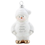 GreenGate / Snowmann White / Glass hanging