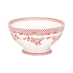 GreenGate / Stephanie Red / French bowl 13,5 cm