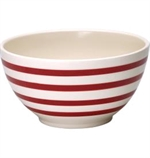 GreenGate / Stripe Red / Serving Bowl 18 cm