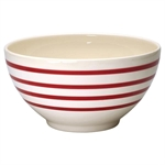 GreenGate / Stripe Red / Serving Bowl 24 cm